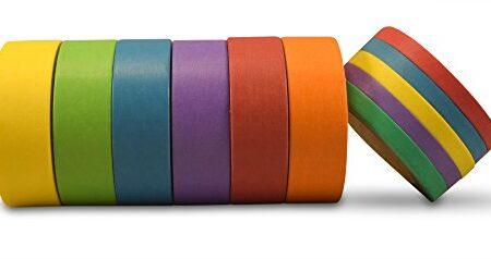 AIM-HOBBIES-Washi-Masking-Tape-Set-of-6-PLUS-FREE-BONUS-SET-OF-5-Solid-Colors-1-0