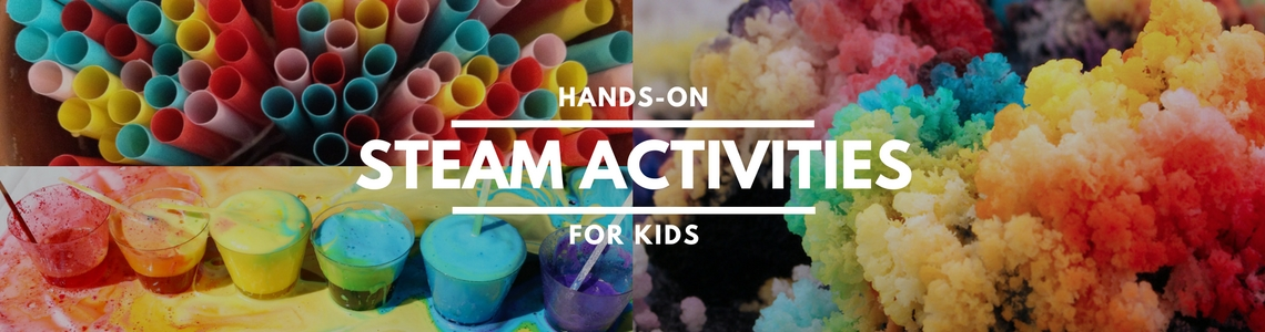 "50+ STEAM activities for kids that will wow the ""I'm bored"" right out of their vocabulary. Science, tech, engineering, art, and math projects made fun."