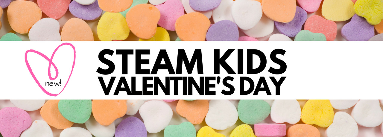 Sweet STEAM (Science, tech, engineering, art, and math) activities for Valentine's Day.