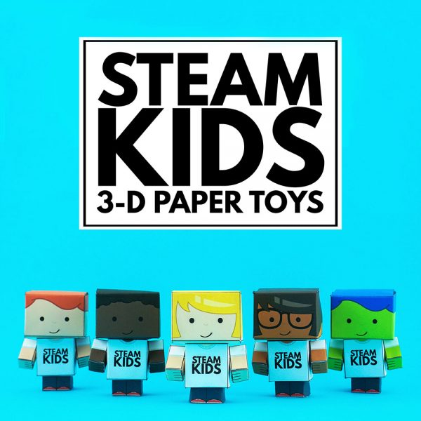 STEAM Kids 3-D Paper Toys Cover 1000x1200