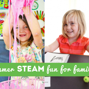 Summer STEAM Fun for Families Horizontal Collage - Kids