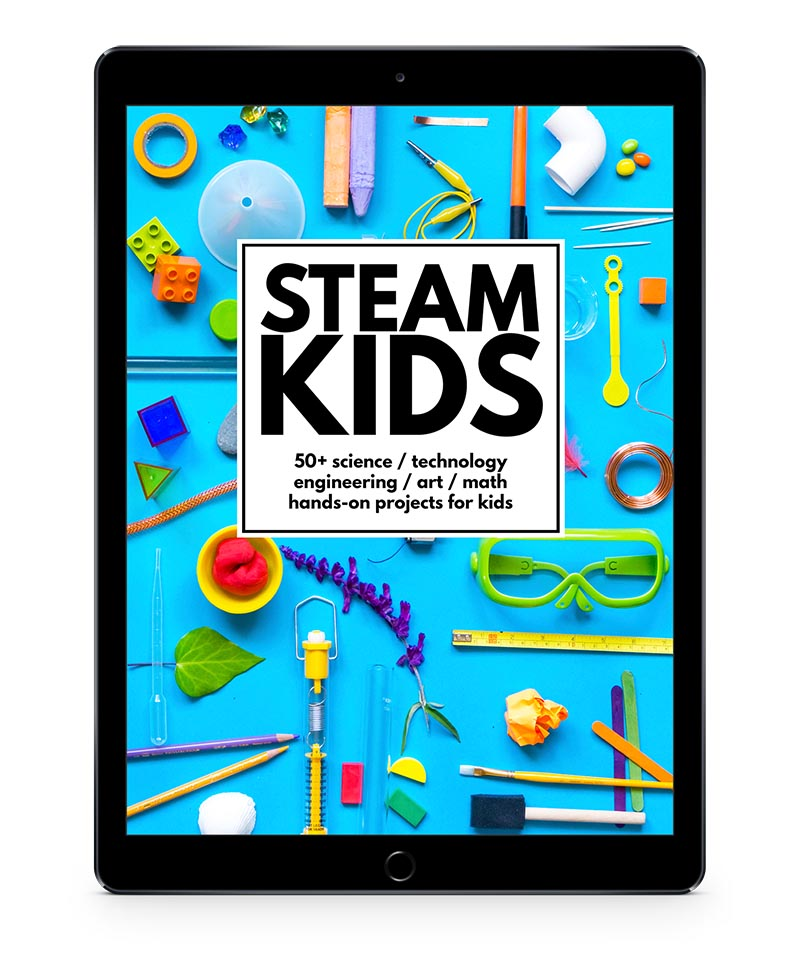 STEAM Kids iPad transparent background