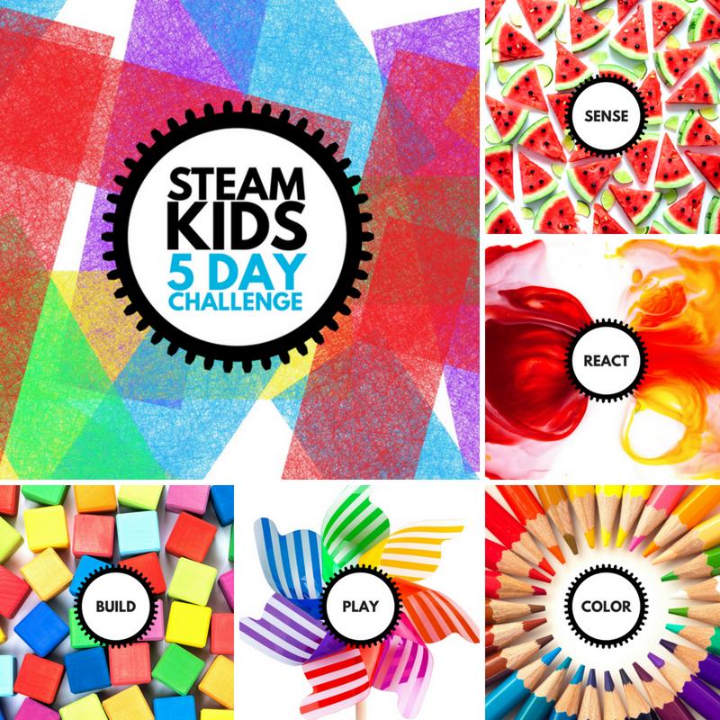 STEAM Kids 5 Day Challenge Collage
