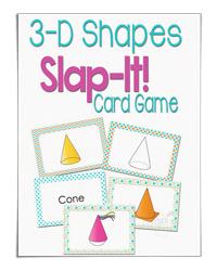 3-D Shapes Slap It Card Game (Life Over Cs)