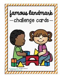 Famous Landmarks Challenge Cards (The STEM Laboratory)