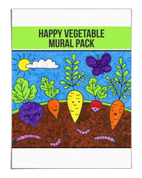 Happy Vegetable Art and Science Mural Pack (Art Projects for Kids)