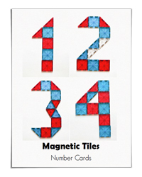 Magnetic Tile Number Cards (Adventure in a Box)