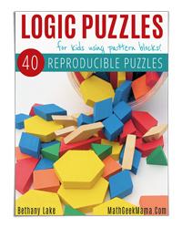 Pattern Block Logic Puzles (Math Geek Mama)