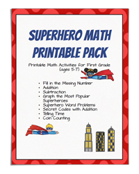 Superhero Math Printable Pack (Frugal Fun for Boys and Girls)