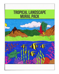 Tropical Landscape Art and Science Mural Pack (Art Projects for Kids)