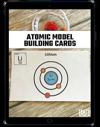 Atomic Model Building Cards ipad