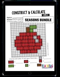 Construct and Calculate Seasons Bundle - Level 3 ipad
