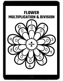 Flower Multiplication and Division ipad