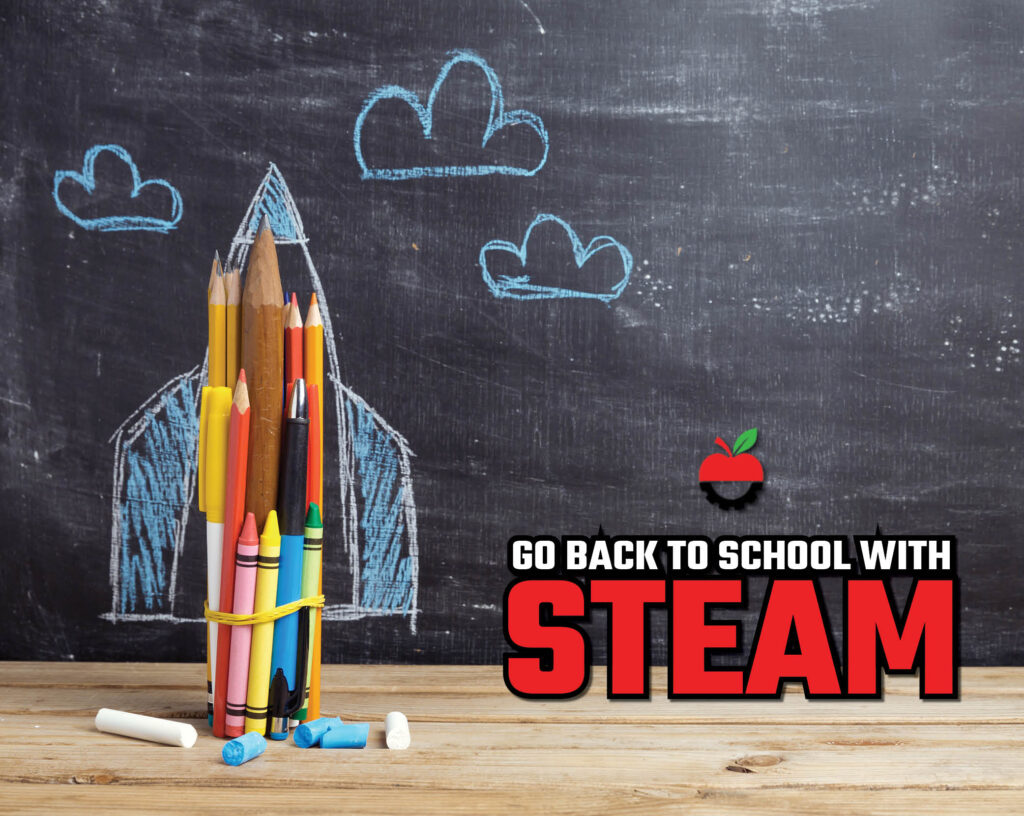 Go back to school with steam horizontal