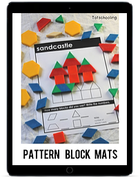 Pattern Block Mats ipad