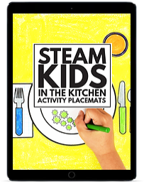 STEAM Kids in the Kitchen Activity Placemats ipad